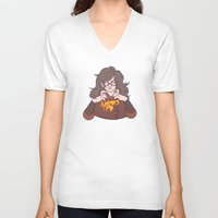 potato V-neck T-shirts featuring Potato Princess by StickyHunter