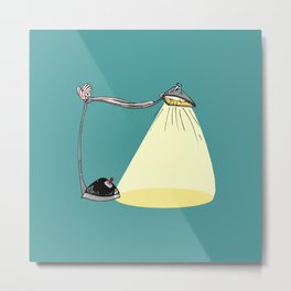 CARTOON LAMP Metal Print