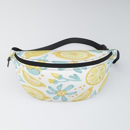 Lemon pattern White Fanny Pack