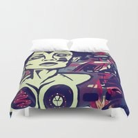 angelina jolie Duvet Covers featuring Angelina by The Painting Priestess