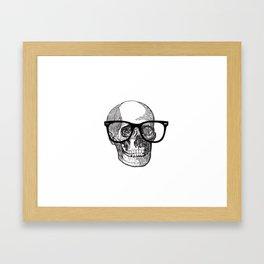 I die hipster - skull Framed Art Print