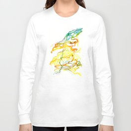 Iceland Abstracted #6 Long Sleeve T-shirt