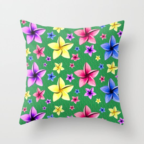 Flower Crazy Throw Pillow