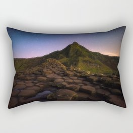 The Giants Causeway with the stars | Print (RR 269) Rectangular Pillow