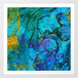Multicolored marble ii Art Print