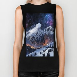 Mountain CALM IN space view Biker Tank