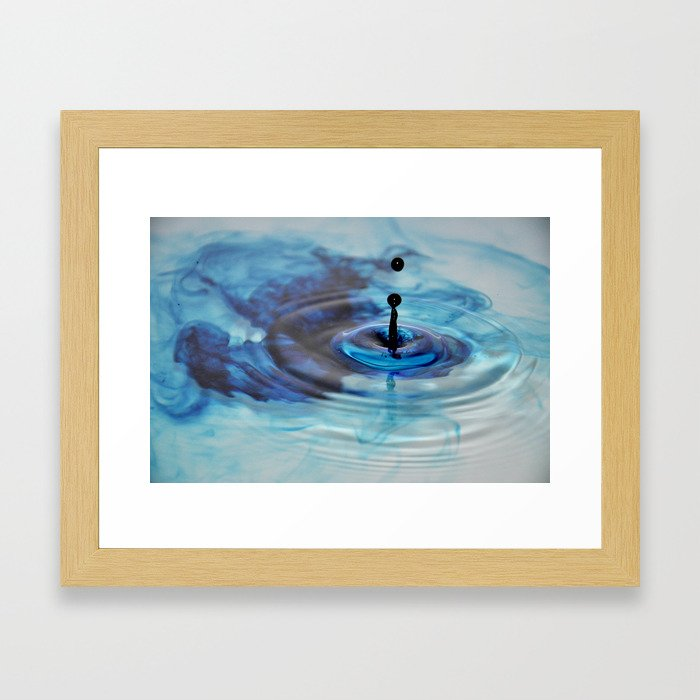 Blue Drop Framed Art Print