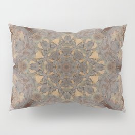 Copper Brown Terracotta Mandala and Tile Pillow Sham