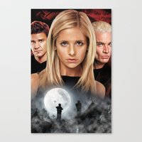 buffy Canvas Prints featuring Buffy The Vampire Slayer  by SB Art Productions