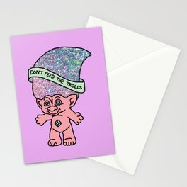 Don't Feed The Trolls Internet Netflix Wifi Funny Youtuber Stationery Cards