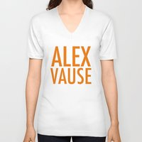 alex vause V-neck T-shirts featuring Alex Vause (2) by Zharaoh