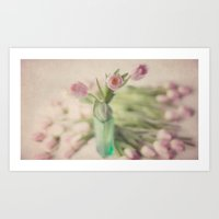 romance Art Prints featuring Romance by Kim Bajorek