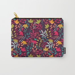 Autumn seamless pattern with floral decorative elements, colorful design Carry-All Pouch