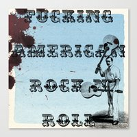 rock n roll Canvas Prints featuring Rock N Roll by Ericjsanchez