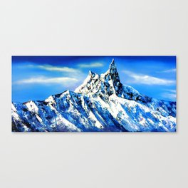 Panoramic View Of Everest Mountain Peak Canvas Print