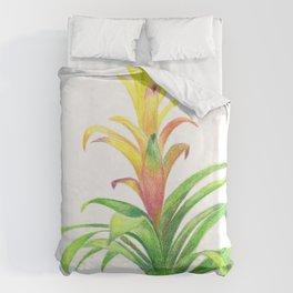 Bromeliad - Tropical plant Duvet Cover