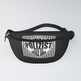 police gift policemen beer drink saying Fanny Pack