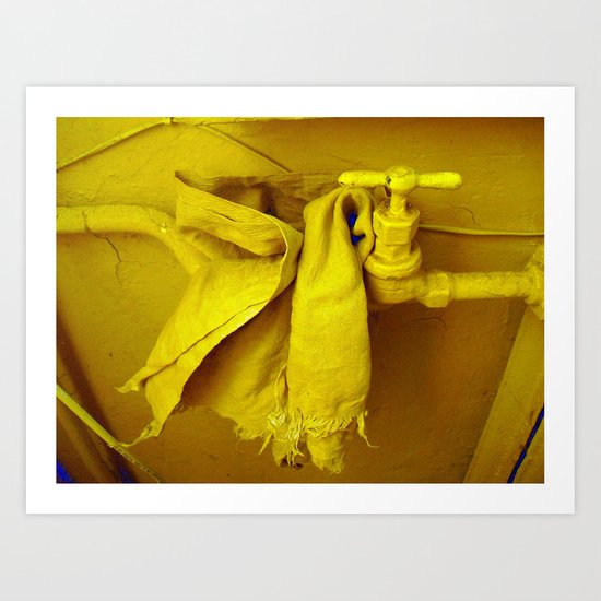 a lot of yellow Art Print