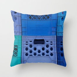 Milk Crates Throw Pillow