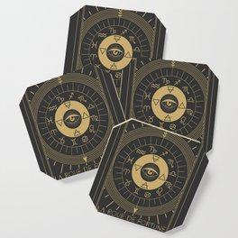 La Roue de Fortune or Wheel of Fortune Tarot Coaster