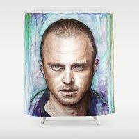 jesse pinkman Shower Curtains featuring Jesse Pinkman by Olechka
