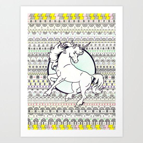 Unicorn Party Art Print