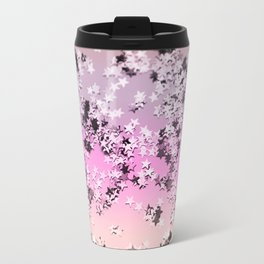 Unicorn Girls Glitter Stars #8 #shiny #decor #art #society6 Travel Mug