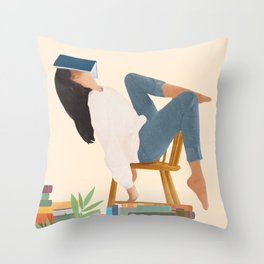 Lost in my books Throw Pillow