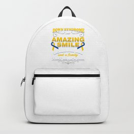Trisomy 21 Unique Genetics Down Syndrome Awareness Gift My Child May Have Down Syndrome But He Also Backpack
