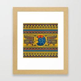 Hunab Ku Mayan symbol Leather texture Framed Art Print