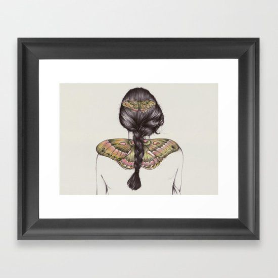 Hair IV Framed Art Print