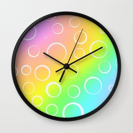 Colorful Rainbow Gradient Design! Wall Clock