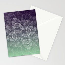 Dry Leaves - Purple Stationery Cards