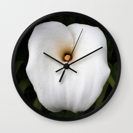 White lilie Wall Clock