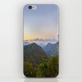 Sleepy valley town iPhone Skin