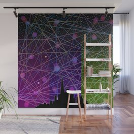 A Futurist's Starry Night Wall Mural
