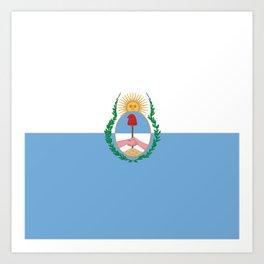 flag of mendoza Art Print