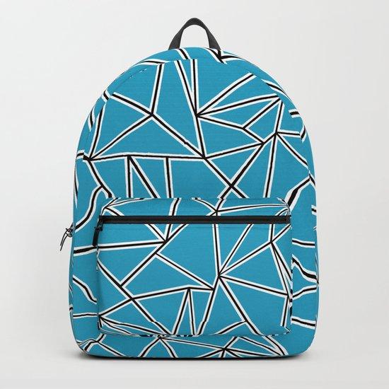Shattered Ab Blue Backpack