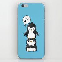penguins iPhone & iPod Skins featuring Penguins by Freeminds