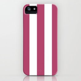 Irresistible purple - solid color - white vertical lines pattern iPhone Case