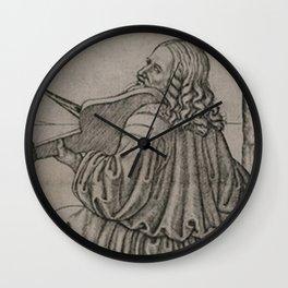 Da Vinci playing the Violin Wall Clock