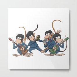 Monkey pop band Metal Print