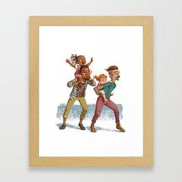 Hipster Dads Framed Art Print