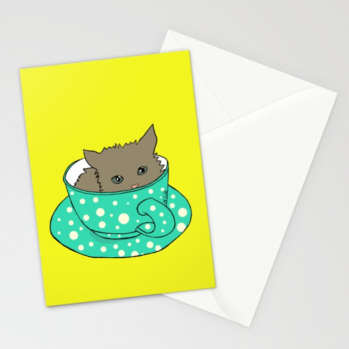 Kitten In A Teacup Stationery Cards