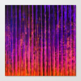 Syntax (Purple + Orange) Canvas Print