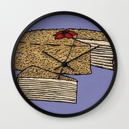 N is for Napoleon Cake Wall Clock