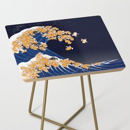 Shiba Inu The Great Wave in Night Side Table
