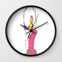 kardashian Wall Clocks featuring Kim Kardashian by The Draw Blurg
