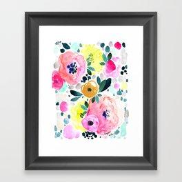 Wake Up Floral Framed Art Print