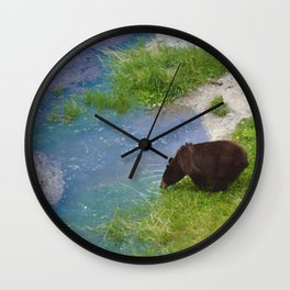 Glacier fed - bear approved Wall Clock